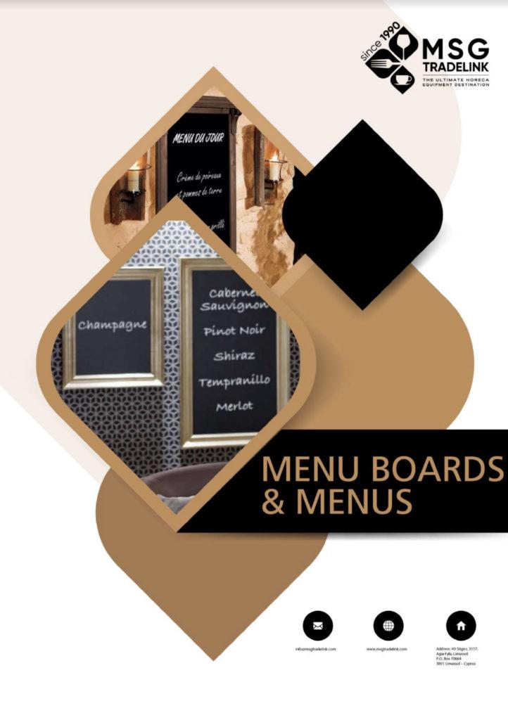 Menu Boards & menus - Furniture for Horeca- Cyprus