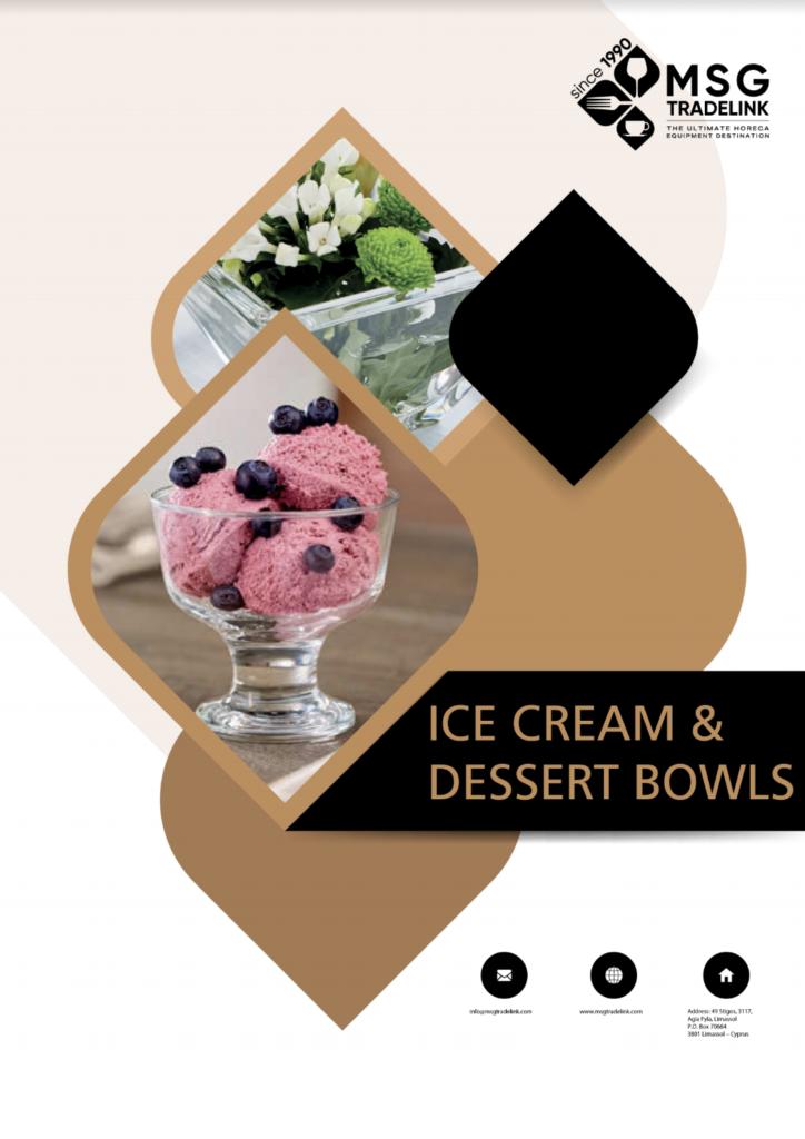 Ice Cream , Dessert Bowls - Glassware - Supplier in cyprus