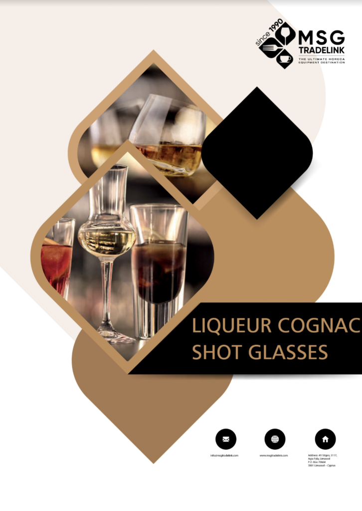 Liqueur cognac shot glasses - Glassware - Supplier in Cyprus