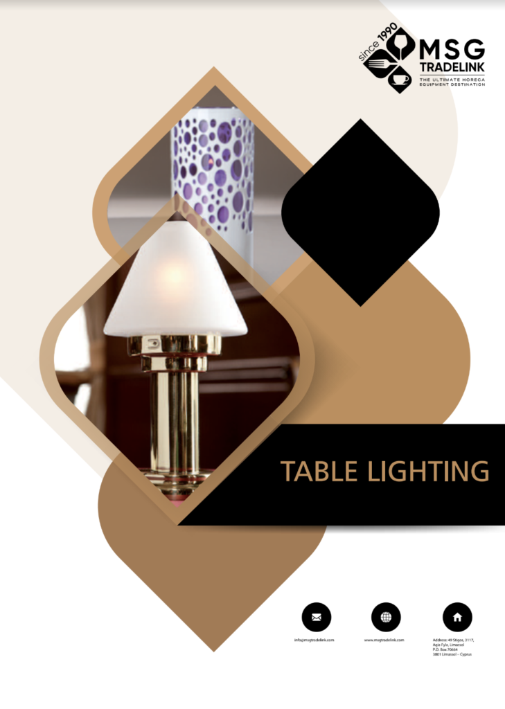 Table Lighting | Tabletop solutions Cyprus